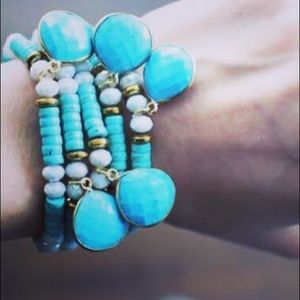 Turquoise bracelet with charm